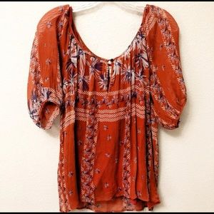 Anthropologie BoHo Joie Peasant Top Sz L